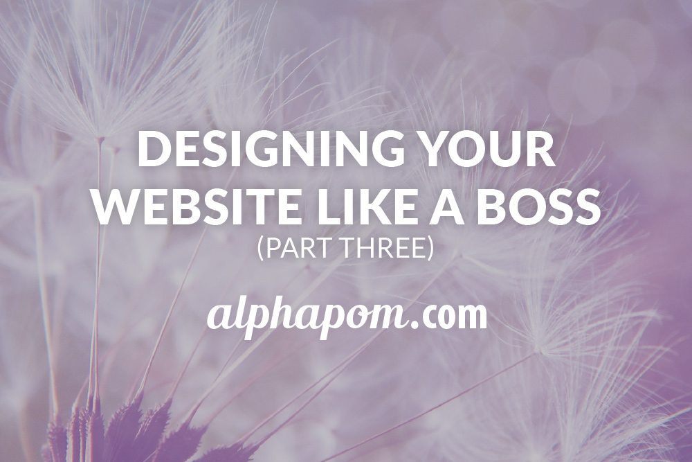Designing Your Website Like a Boss Part Three
