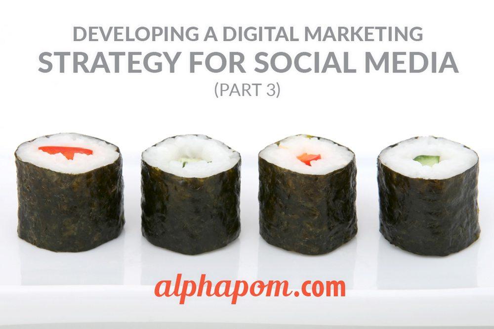 Digital Marketing Strategy for Social Media Part Three