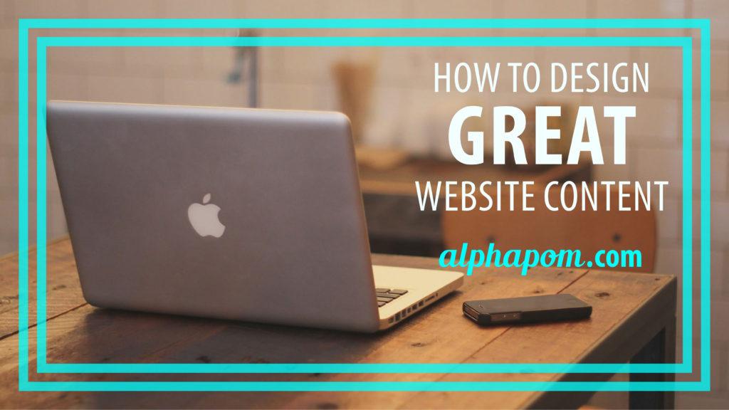 Great website content