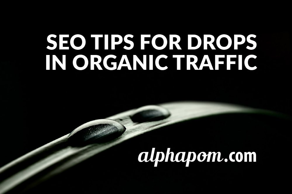 SEO Tips for Drops in Organic Traffic
