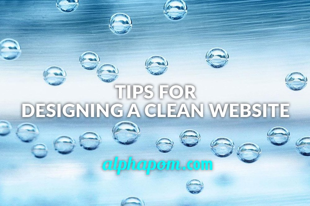 Tips for Designing a Clean Website