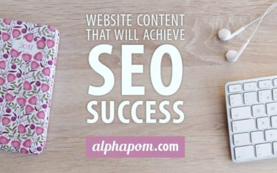Website Content that Will Achieve SEO Success​